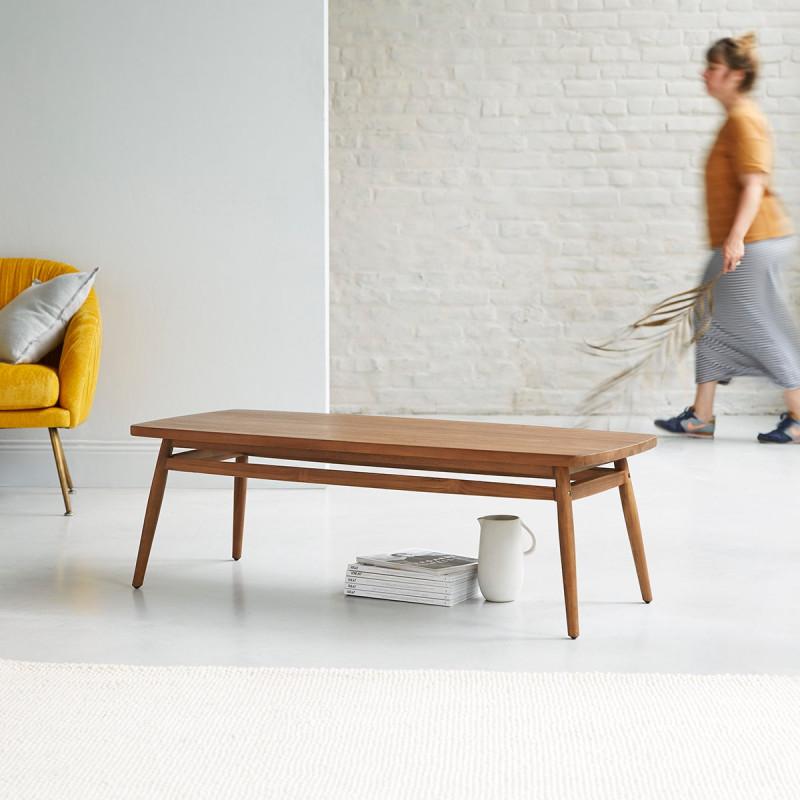 Table basse en teck massif Twist