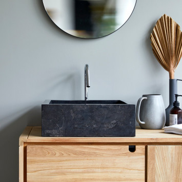 Vasque en marbre Slats dark grey