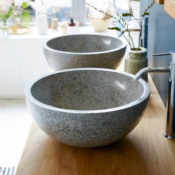 Vasque en terrazzo Isa grey