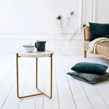 Bout de canapé en métal et terrazzo Anatole confetti
