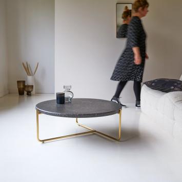 Table basse en terrazzo et métal Anatole grey
