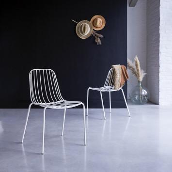 Chaise en métal Arty white