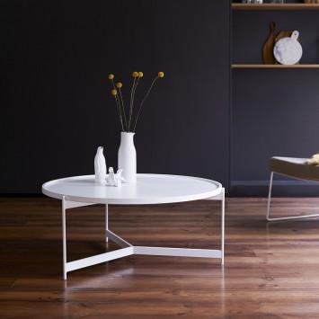Table basse en métal Happy white