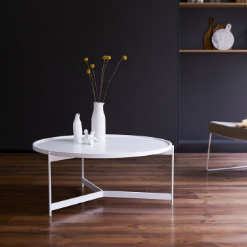 Table basse en métal Happy white