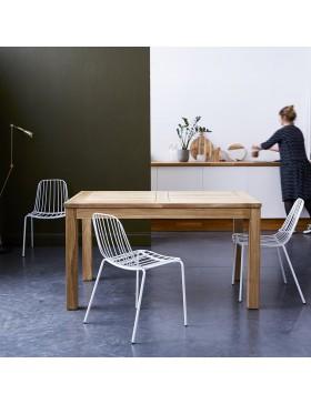 Table en teck massif à rallonge 140x90 Clo