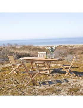 Table de jardin pliable en teck massif 120 Capri
