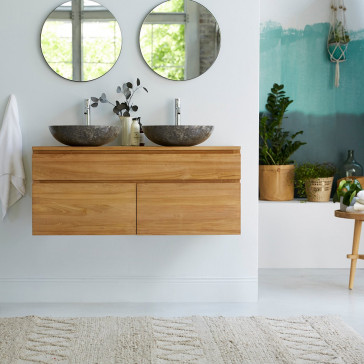 Meuble Salle de bain en teck massif 120 Jacob