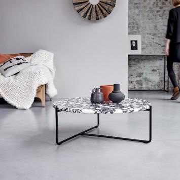 Table basse en pierres et métal Unik