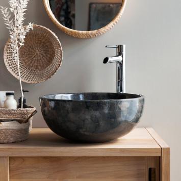 Vasque en marbre Mia dark grey
