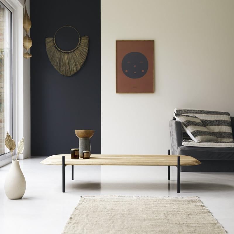 Table basse rectangulaire en teck massif Honorine