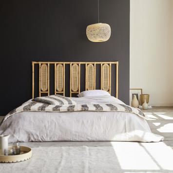 Tête de lit en rotin cannée 160 cm Paulette