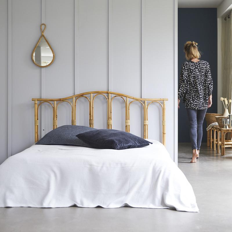Tête de lit en rotin 160 cm Ondine