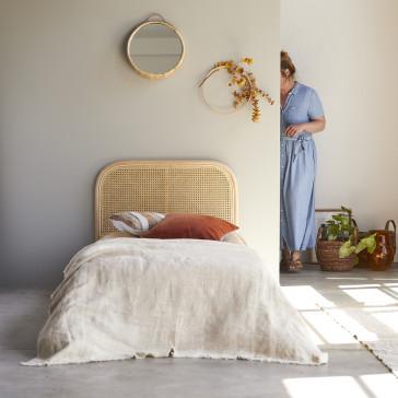 Tête de lit en rotin cannée 90 cm Joséphine