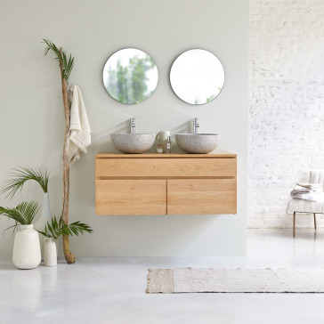 Meuble Salle de bain en chêne massif 120 Jacob