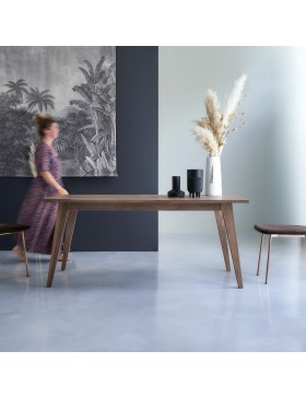 Table en noyer massif 180x90 Esmée