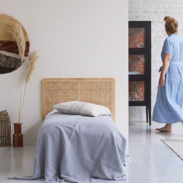 Tête de lit en rotin cannée 90 cm Adèle