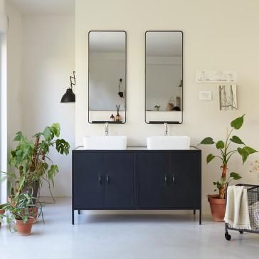 Meuble de salle de bain métal et terrazzo 140 Lizzie