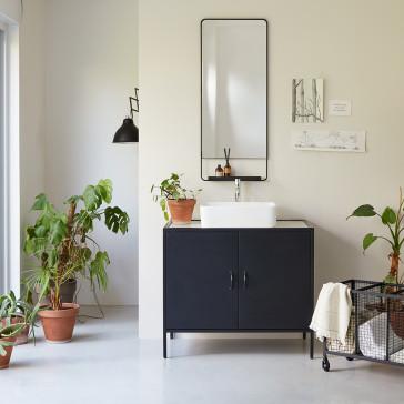 Meuble de salle de bain métal et terrazzo 90 Lizzie