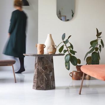 Table d'appoint Keesog en marbre brown