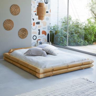 Lit futon en bambou 185x225 cm Balyss