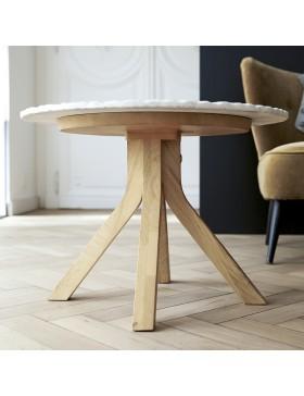 Table basse Stonecrumb en chêne et marbre 50