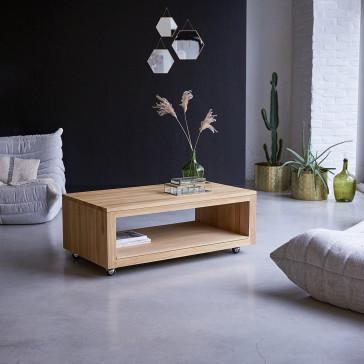 Table basse rectangulaire en teck massif Anoa