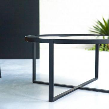 Table basse en marbre et métal Milan
