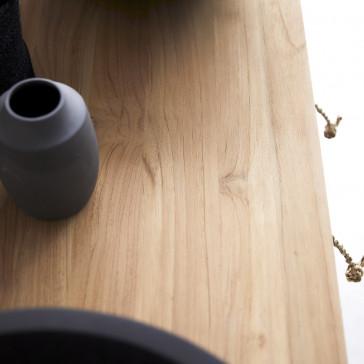 Meuble sous vasque en teck massif 145 Minimalys