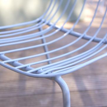 Chaise de jardin en métal Arty bleu grey