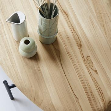 Table basse ovale en teck massif Honorine