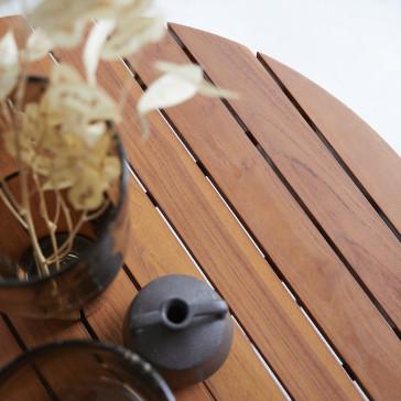 Table basse lattée en teck massif Key Wood