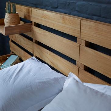 Tête de lit en teck massif 270 cm Urbain