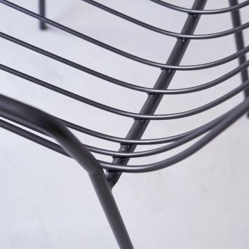 Fauteuil en métal Arty dark grey