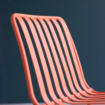Chaise en métal Gaby orange
