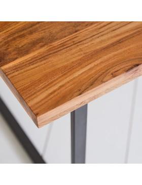 Table en métal et acacia massif 175x90 Temis