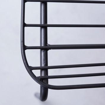 Chaise en métal Arty dark grey