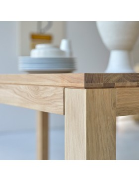 Table en chêne massif 180x90 Eden