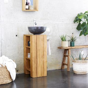 Meuble Salle de bain en teck massif 30 Stelle droit
