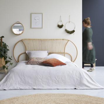 Tête de lit en rotin 190 cm Léontie