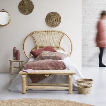 Tête de lit en rotin 120 cm Léontie
