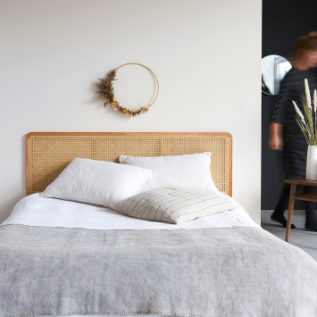 Tête de lit en rotin cannée 160 cm Adèle