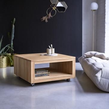 Table basse carrée en teck massif Anoa
