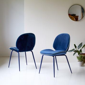 Chaise en tissu Uma blue