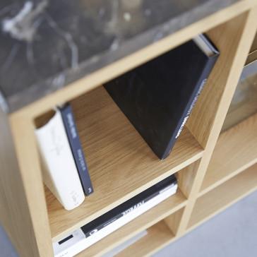 Console Eyota en chêne et marbre