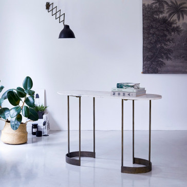 Console métal et marbre Gustav