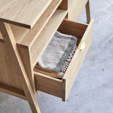 Console 2 tiroirs en chêne massif Pola