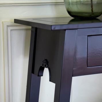 Console wengé 2 tiroirs Thaki black