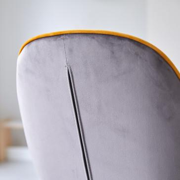 Chaise en tissu Uma grey