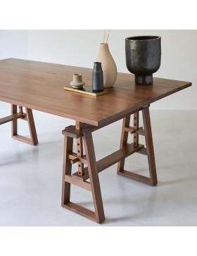 Table en teck massif 200x100 Trestle