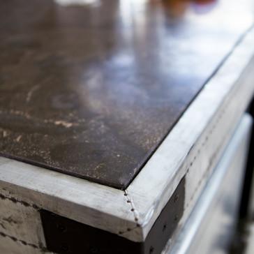 Ilot central en zinc Toby 115 cm
